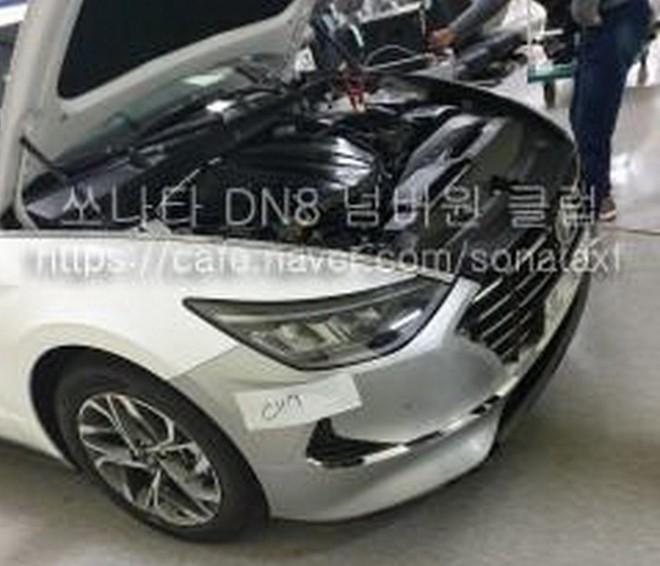 Hình ảnh rò rỉ cho thấy thiết kế đầu xe của Hyundai Sonata 2020