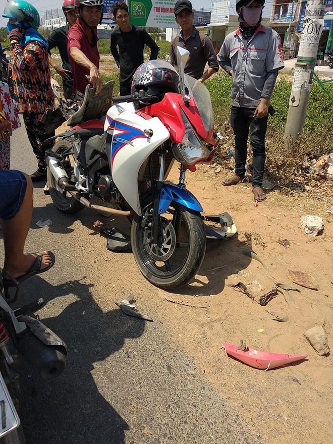 Chiếc xe bị tai nạn sở hữu bộ vỏ của Honda CBR150 gặp nạn