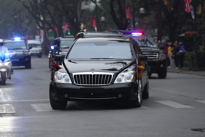Maybach 62S trong đoàn xe hộ tống của Chủ tịch Triều Tiên