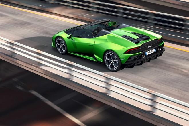 Thời gian siêu xe Lamborghini Huracan Evo Spyder đóng mở mui là 17 giây