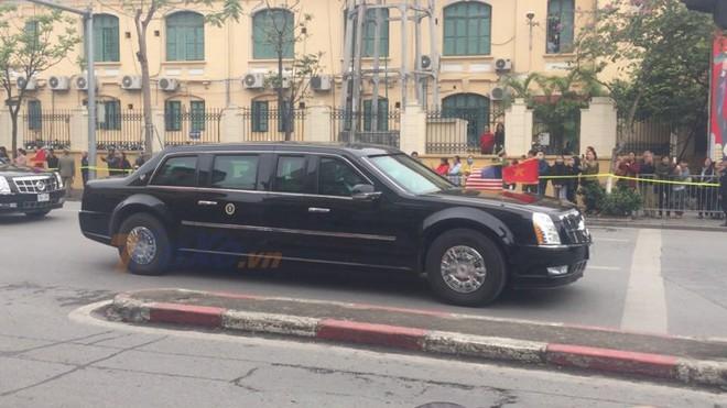 Một trong hai chiếc Cadillac One The Beast mà Tổng thống Mỹ sử dụng