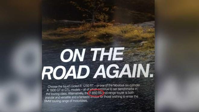 Cái tên BMW F850RS xuất hiện trên sách giới thiệu sản phẩm mới của BMW cho năm 2019