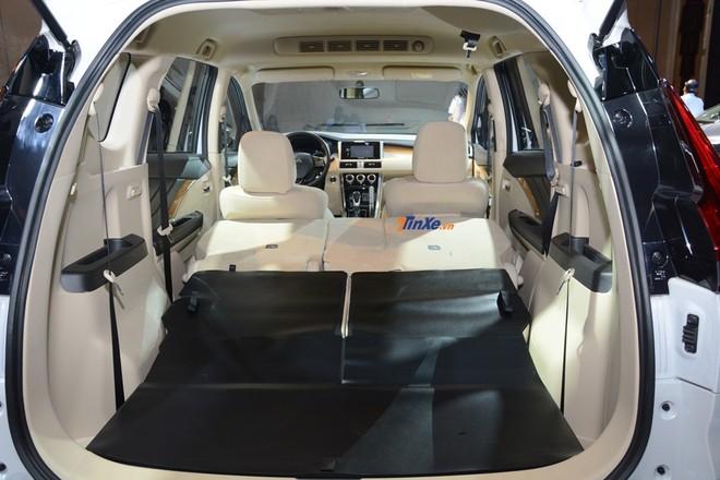 Hàng ghế thứ 2 gập 60:40, hàng ghế thứ 3 gập 50:50 đem lại không gian chứa hành lý rộng rãi