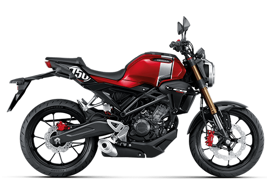 Honda CB150R màu Đỏ đen bạc