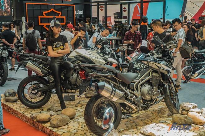 Triumph nằm chính giữa trong 3 gian hàng mô tô phân khối lớn tại Việt Nam AutoExpo 2019
