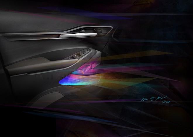 Kia Seltos 2020 được trang bị hệ thống đèn viền có thể thay đổi màu sắc