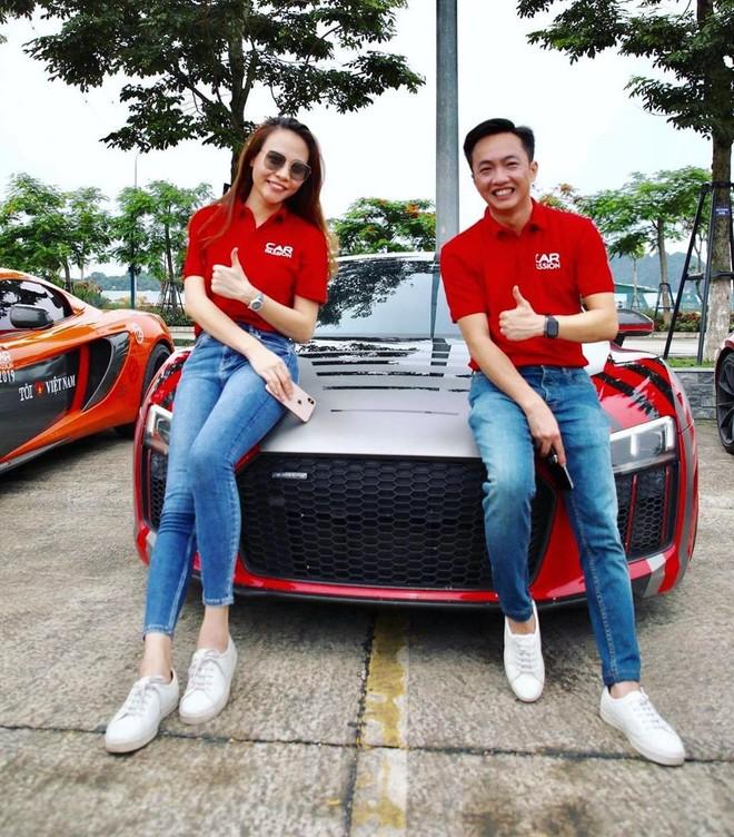 Cường Đô-la và vợ sắp cưới tông xuyệt tông với nhau khi tham dự hành trình Car Passion 2019