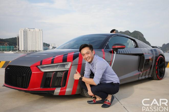 Cường Đô-la cùng siêu xe Audi R8 V10 Plus