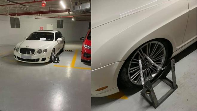 Đỗ sai vị trí, xe siêu sang Bentley Continental Flying Spur Speed biển Hà Nội bị bảo vệ thẳng thừng xích giò