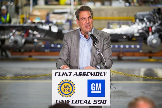 Chủ tịch General Motors, Mark Reuss phát biểu về kế hoạch đầu tư 150 triệu USD vào nhà máy lắp ráp Flint
