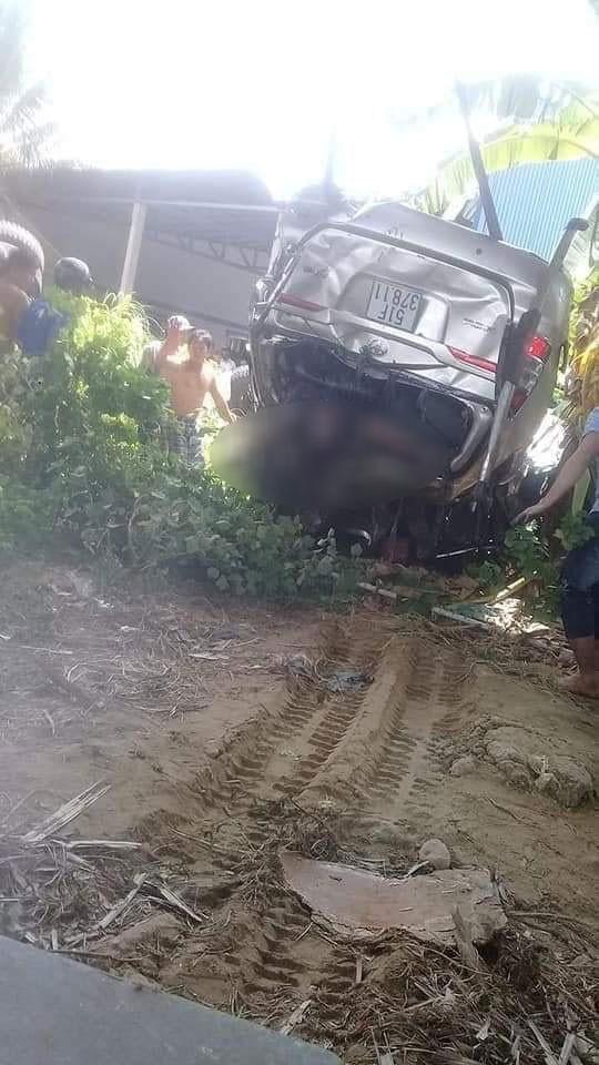Trong 4 người ngồi trên chiếc Toyota Innova, có 1 người tử vong và 3 người bị thương