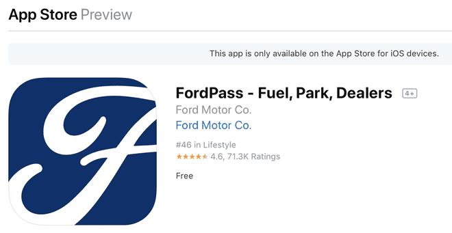 Phần mềm FordPass dành cho điện thoại thông minh để hỗ trợ khách hàng của Ford. Tuy nhiên phần mềm này chỉ sử dụng được tại một số quốc gia.