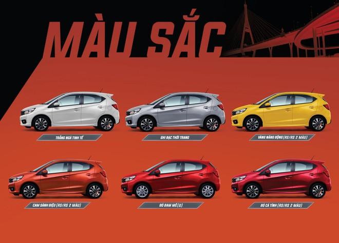 Các tùy chọn màu sắc ngoại thất của Honda Brio 2019