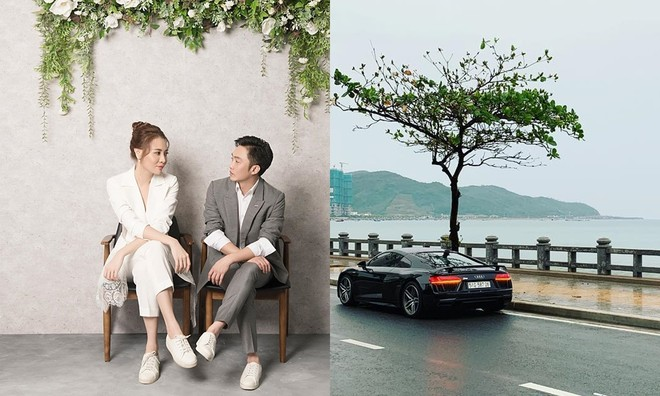 Cường Đô-la và Đàm Thu Trang đã đưa siêu xe Audi R8 V10 Plus vào video cưới của mình