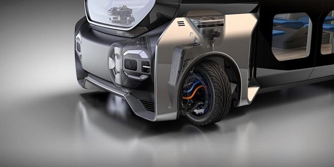 Hình ảnh mô phỏng hoạt động khi lắp Protean360+ vào một chiếc xe