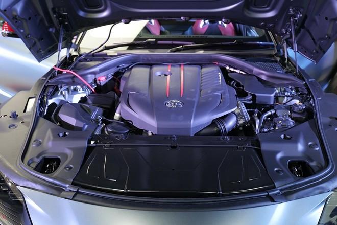 Toyota GR Supra 2020 thuộc phiên bản Launch Edition được trang bị khối động cơ 6 xy-lanh, dung tích 3.0 lít