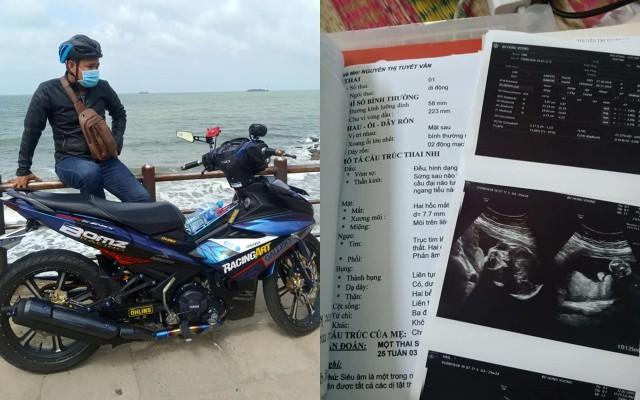Hình ảnh được cho là người chồng trong câu truyện trêncùng chiếc xe Yamaha Exciter