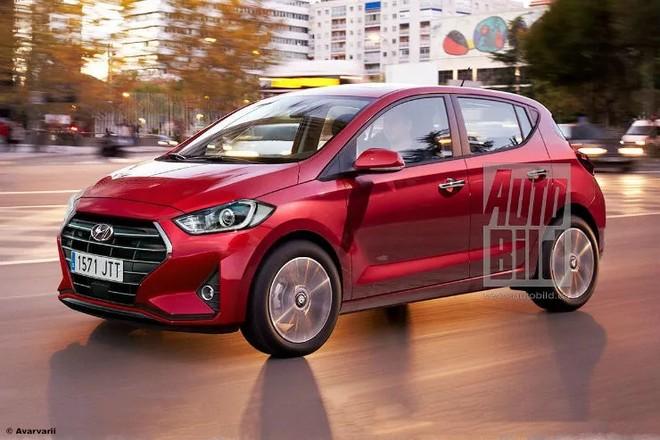 Hình ảnh phác họa Hyundai Grand i10 mới của tờ Auto Bild