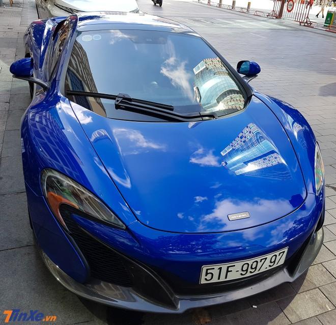 McLaren 650S Spider màu xanh Aurora Blue mang biển số siêu đẹp