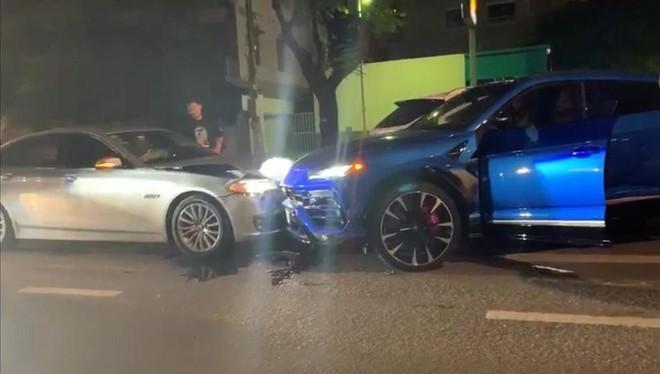 Lamborghini Urus tông trực diện vào xe BMW 523i