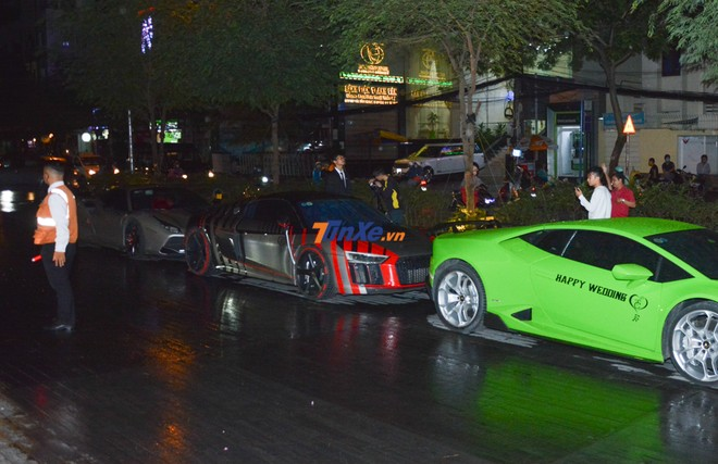 Siêu xe Audi R8 V10 PLus xuất hiện trong đám cưới của Cường Đô-la