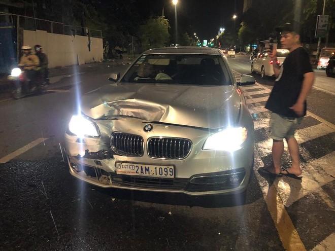 Thiệt hại của chiếc BMW 523i khá nghiêm trọng