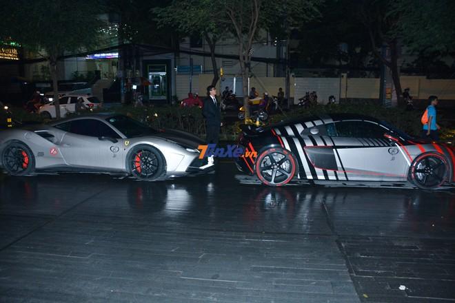 Siêu xe Audi R8 V10 PLus cùng Ferrari 488 GTB độ SVR