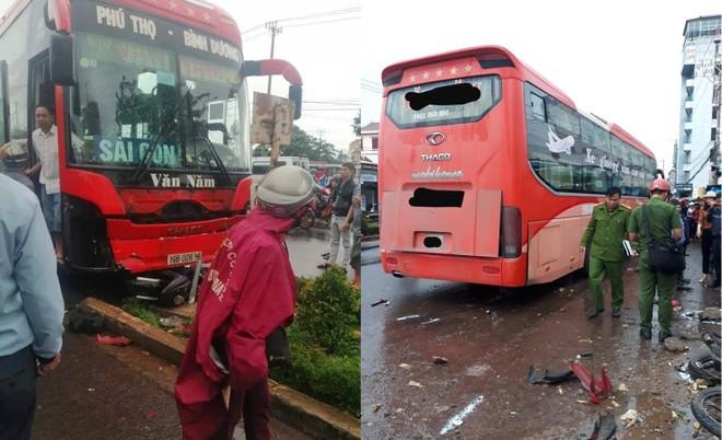 Chiếc xe khách gây tai nạn kinh hoàng vào sáng nay tại Gia Lai