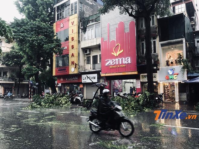 Bão Wipha suy yếu thành áp thấp nhiệt đới nhưng vẫn để lại hậu quả cho khu vực Hà Nội.