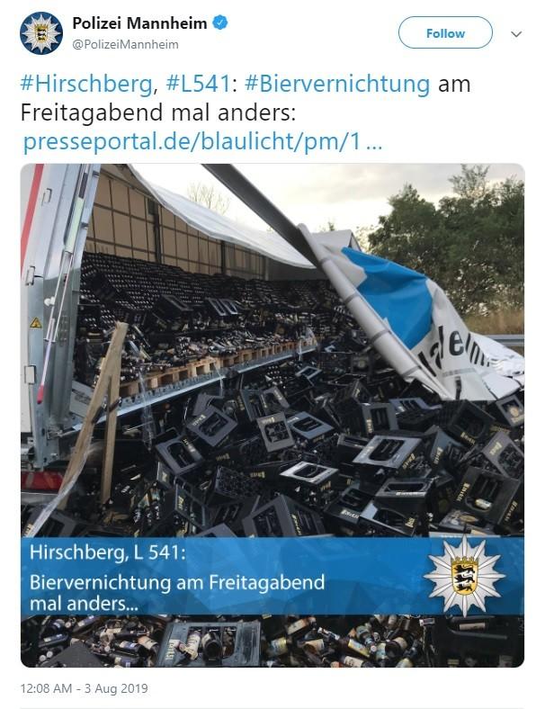 Hình ảnh được chia sẻ lên Twitter bởi lực lượng cảnh sátMannheim