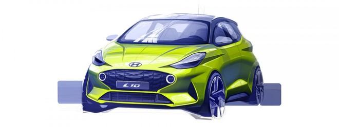 Hình ảnh phác họa chính thức của Hyundai i10 2019 dành cho châu Âu