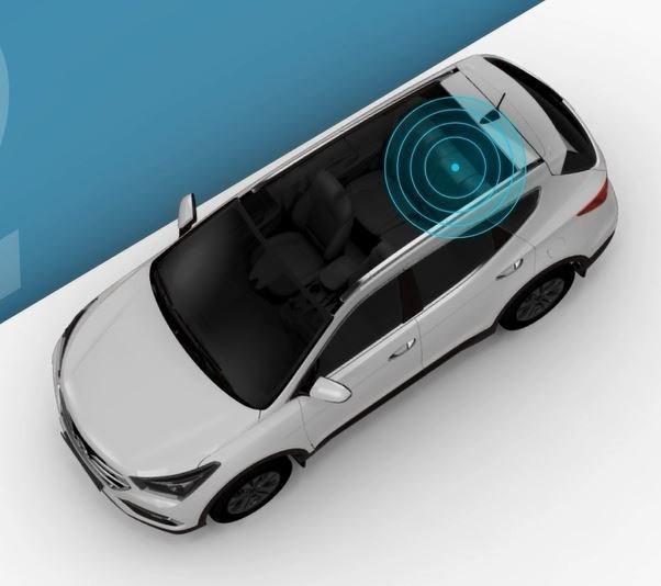 Cảm biến chuyển động siêu âm được lắp trên trần xe Hyundai